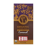 Органический продукт, Темный шоколад, Карамельная крошка и морская соль, 2,8 унц.(80 г) - фото
