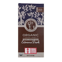 Equal Exchange, Orgánico, chocolate negro, extremadamente oscuro, 2.8 oz (80 g)