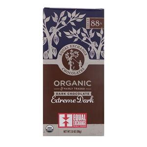 Икуал Эксчэндж, Organic, Dark Chocolate, Extreme Dark, 88% Cacao, 2.8 oz (80 g) отзывы покупателей
