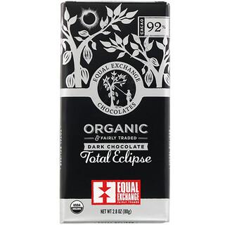 Equal Exchange, 有機黑巧克力,全蝕,92% 可可,2.8 盎司(80 克)