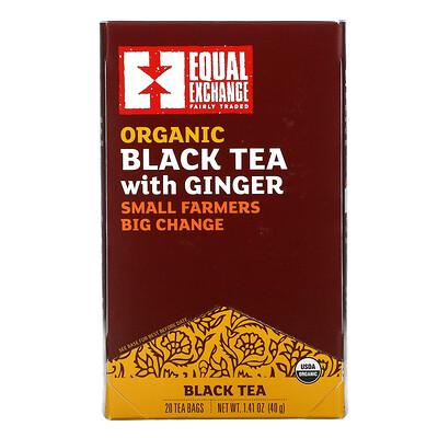 Купить Equal Exchange Organic Black Tea with Ginger, 20 Tea Bags, 1.41 oz (40 g)