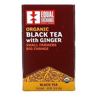 Equal Exchange, Organic Black Tea with Ginger, 20 Tea Bags, 1.41 oz (40 g)