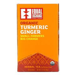 Equal Exchange, 有機薑黃草本茶,無咖啡萃取,20 包茶包,1.27 盎司(36 克)