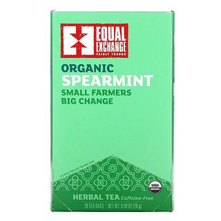Equal Exchange, Organic Spearmint Herbal Tea, Caffeine-Free, 20 Tea Bags, 0.99 oz (28 g)