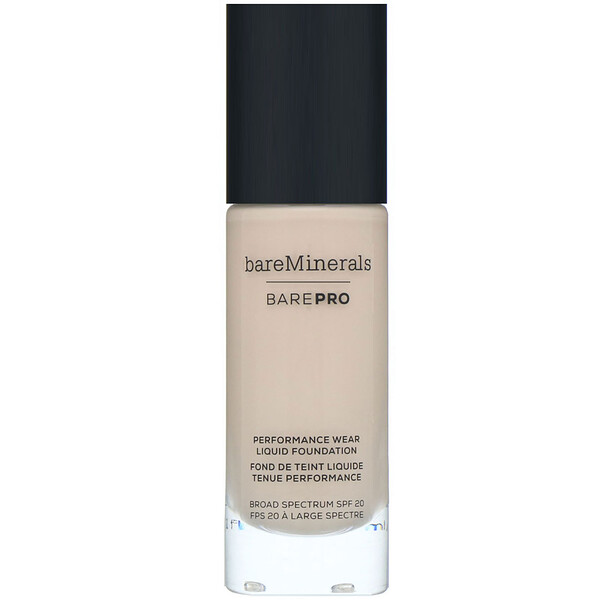 bareMinerals, BAREPRO, Performance Wear, Liquid Foundation, SPF 20, Fair 01, 1 fl oz (30 ml)