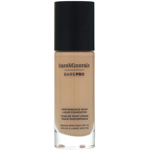 BAREPRO, Performance Wear, Liquid Foundation, SPF 20, Golden Ivory 08, 1 fl oz (30 ml)