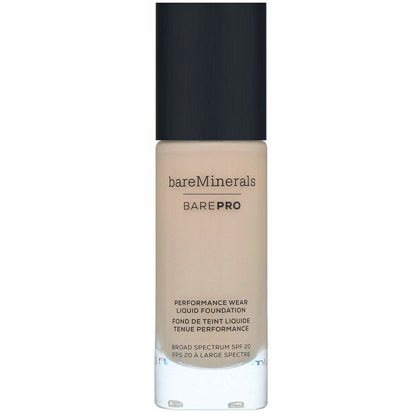 bareMinerals, BAREPRO, Base de maquillaje líquida de larga duración, FPS 20, Light Natural 09 (natural claro), 30 ml (1 oz. líq.) (Discontinued Item)