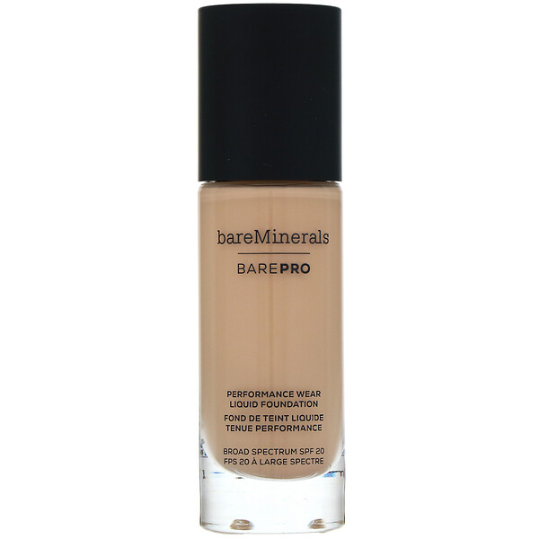 bareMinerals, BAREPRO, Performance Wear, Liquid Foundation, SPF 20, Golden Nude 13, 1 fl oz (30 ml)