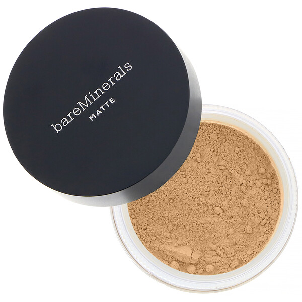 bareMinerals, Mate, Base de maquillaje, FPS 15, Golden Beige (beige dorado) 13, 6 g (0,21 oz) (Discontinued Item)