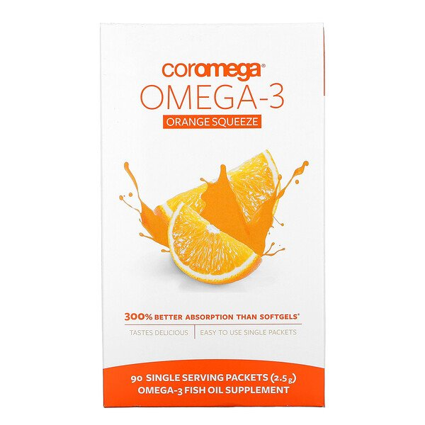 Omega-3 Orange Squeeze, 90 Packets, 2.5 g Each