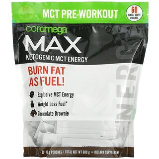 Coromega, Max Ketogenic MCT Energy, Chocolate Brownie,  60 Single Serve Pouches, (10 g) Each