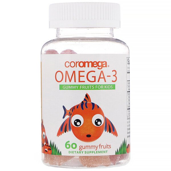 Coromega, Omega-3, Gummy Fruits for Kids, 60 Gummy Fruits