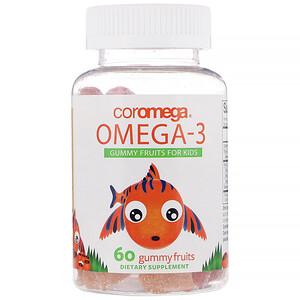 Коромега, Omega-3, Gummy Fruits for Kids, 60 Gummy Fruits отзывы