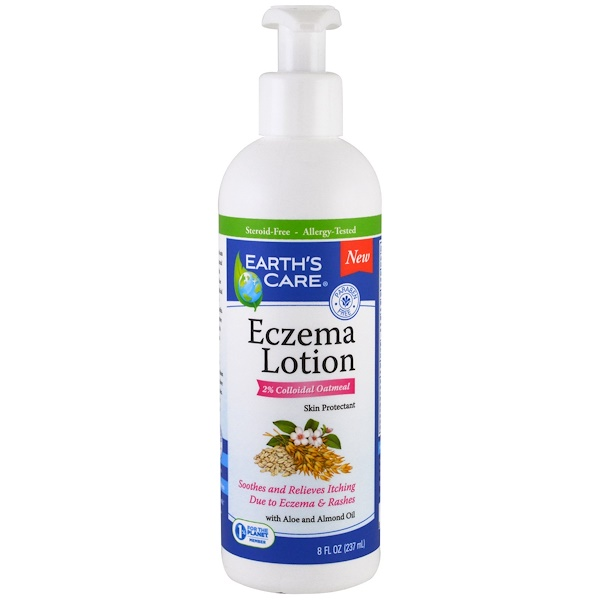 Earth's Care, Eczema Lotion, with Aloe and Almond Oil, 8 fl oz (237 ml) (Discontinued Item)
