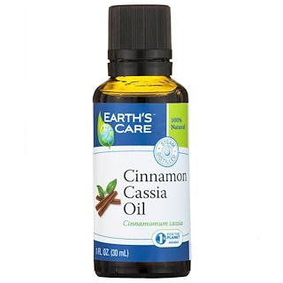 Earth's Care, Cinnamon Cassia Oil, 100% Natural, 1 fl oz (30 ml)