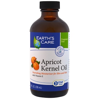 Earth's Care, Apricot Kernel Oil, 8 fl oz (236 ml)