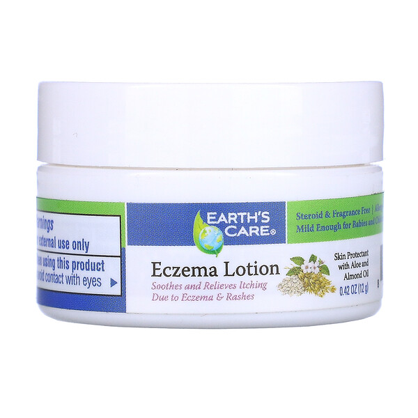 Earth's Care, Eczema Lotion, With Aloe & Almond Oil, 0.42 oz (12 g)