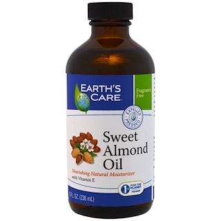 Earth's Care, Aceite de almendra dulce, 8 oz (236 ml)