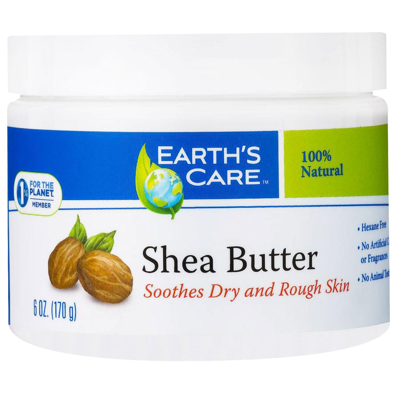 Earth's Care, Масло ши, на 100% чистое, 6 унций (170 г)