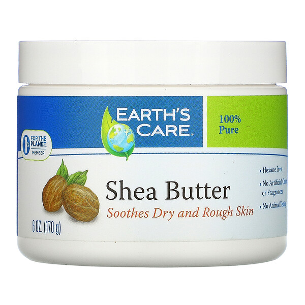 Shea Butter, 100% Pure, 6 oz (170 g)