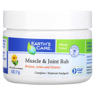 Earth's Care, Muscle & Joint Rub with Arnica Montana, 2.5 oz (71 g)