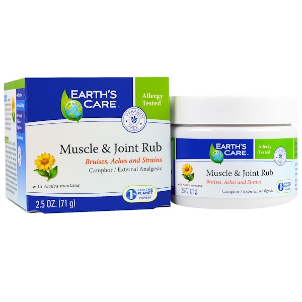 Earth's Care, Muscle & Joint Rub, 2.5 oz (71 g) (Discontinued Item)
