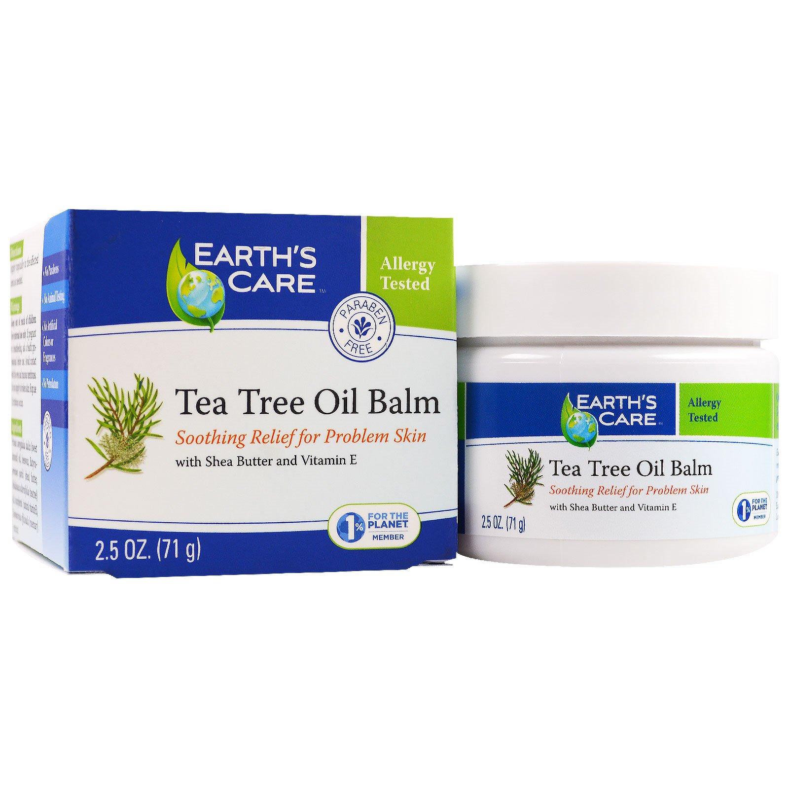 Earth's Care, Бальзам с маслом чайного дерева Balm, 2,5 унц. (71 г)