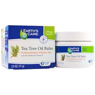 Earth's Care, ティーツリーオイルバーム、2.5 oz (71 g)
