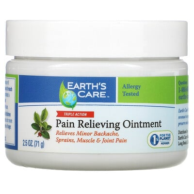 Earth's Care Pain Relieving Ointment, Triple Action, 2.5 oz (71 g)