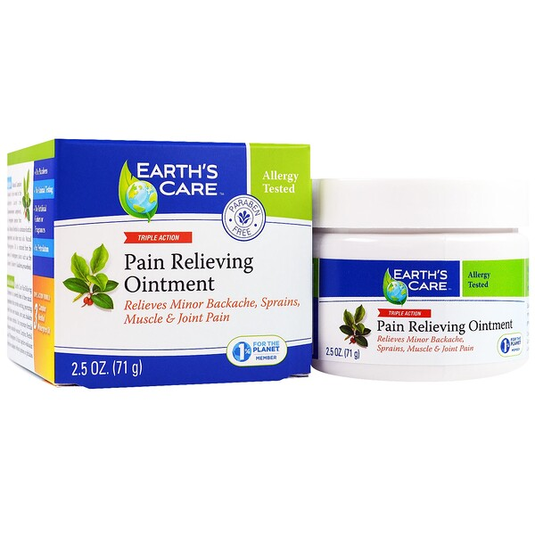 Earth's Care, Pain Relieving Ointment, Triple Action, 2.5 oz (71 g) (Discontinued Item)