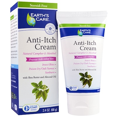 Anti-Itch Cream, Shea Butter and Almond Oil, 2.4 oz, (68 g) chi luxury black seed oil curl defining cream gel