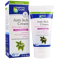 Earth's Care, Anti-Itch Cream, Shea Butter and Almond Oil, 2.4 oz, (68 g)