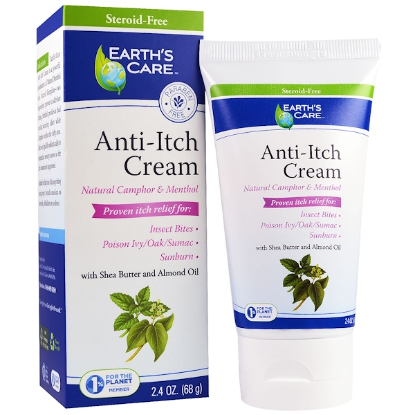 Anti-Itch Cream, Shea Butter and Almond Oil, 2.4 oz, (68 g)
