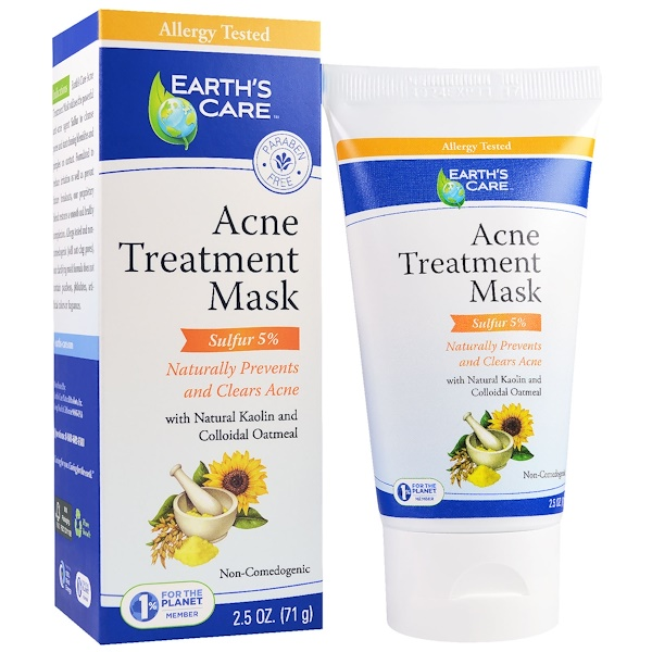 Acne Treatment Mask, Sulfur 5%, 2.5 oz (71 g)