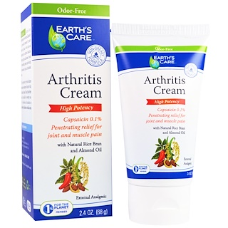 Earth's Care, Arthritis Cream, 2.4 oz (68 g)