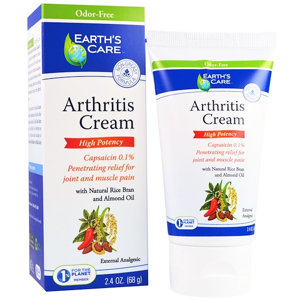 Earth's Care, Arthritis Cream, 2.4 oz (68 g) (Discontinued Item)