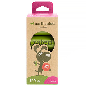 Earth Rated, Dog Waste Bags, Lavender Scented, 120 Bags, 8 Refill Rolls отзывы покупателей