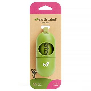 Earth Rated, 皮帶分配器,狗狗糞便袋,熏衣草香味,15 個。