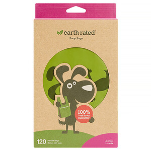 Earth Rated, Handle Bags, Dog Waste Bags, Lavender Scented, 120 Bags отзывы покупателей