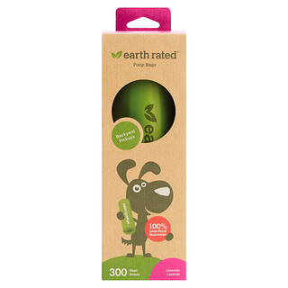 Earth Rated, Dog Waste Bags, Lavender, 300 Bags