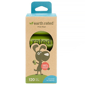 Earth Rated, Dog Waste Bags, Unscented, 120 Bags, 8 Refill Rolls отзывы покупателей