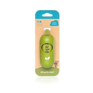 Earth Rated, Диспенсер для поводка, пакетики для собачьего помета, без запаха, 15 пакетиков