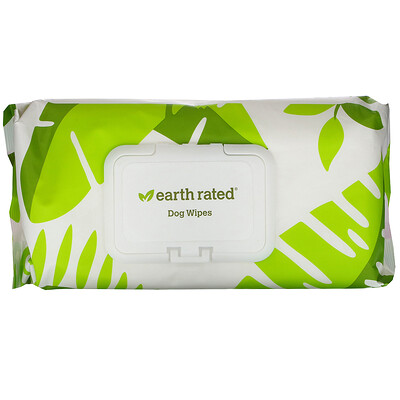Купить Earth Rated Dog Wipes, Lavender, 100 Wipes