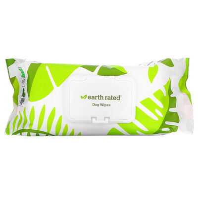 Earth Rated Dog Wipes, Lavender, 100 Wipes