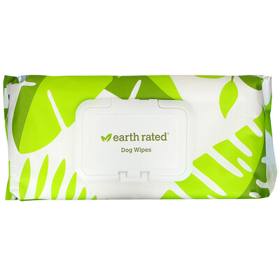 Купить Earth Rated Dog Wipes, Unscented, 100 Wipes