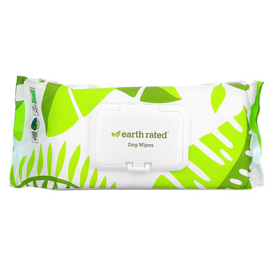 Earth Rated Dog Wipes, Unscented, 100 Wipes