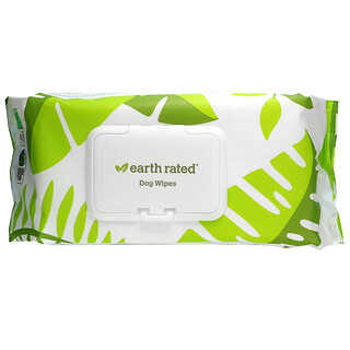 Earth Rated, Dog Wipes, Unscented, 100 Wipes