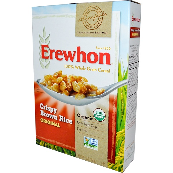 Erewhon, Organic, 100% Whole Grain Cereal, Crispy Brown Rice Original, 10 oz (284 g) (Discontinued Item)