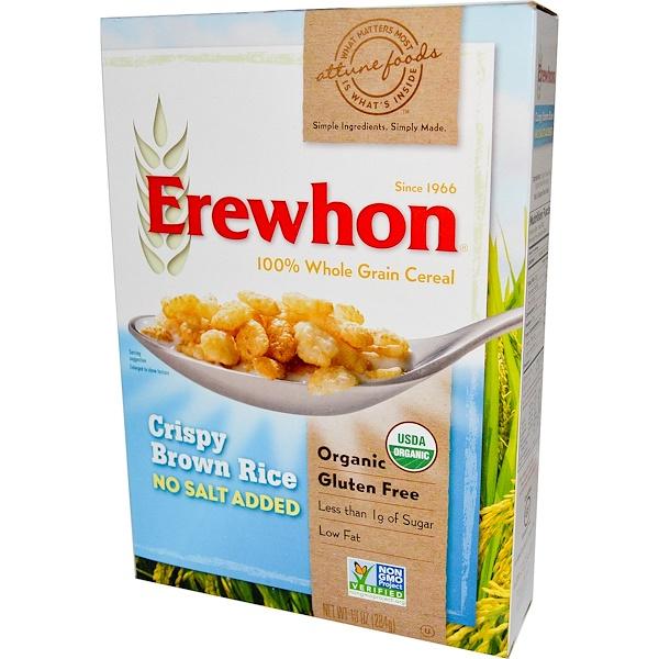 Erewhon, Хлопья из коричневого риса, без добавления соли, 10 унций (284 г) (Discontinued Item)