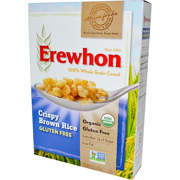Erewhon, Crispy Brown Rice Cereal, Gluten Free, 10 oz (284 g)